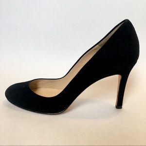 Ann Taylor 7M classic black suede high heels